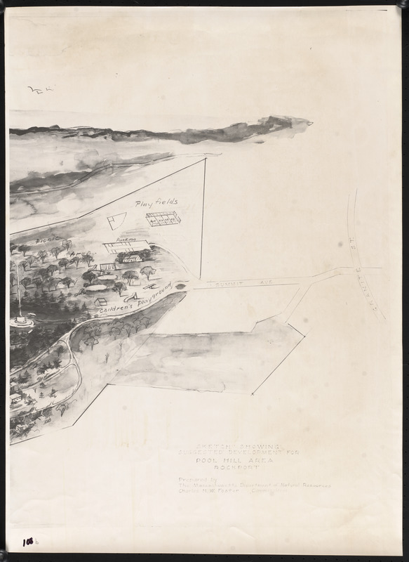 Sketch showing suggested development for Pool Hill area, Rockport