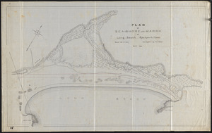 Plan of sea-shore and marsh at Long Beach, Rockport, Mass.