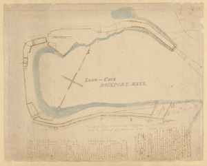 Survey of Long Cove Landing at Sandy Bay by order of the Town of Gloucester