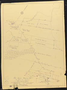 Plan showing proposed route for power line easement, Rockport, Mass., from Squam Hill Road to J. Leonard Johnson Quarries