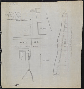 Plan of proposed catch basin and drain from L. Grimes Corner to the beach