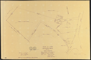 Plan of land, Rockport, Mass., owned by Town of Rockport, showing easement to be conveyed to Stephen F. & Judith W. Davis
