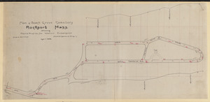Plan of Beach Grove Cemetery, Rockport, Mass. showing plan & profile for water extension