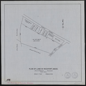 Plan of land in Rockport, Mass.