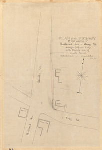 Plan of the highway at the junction of Railroad Ave. - King St. showing proposed change on the easterly side of Granite Street