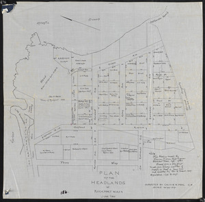 Plan of the headlands in Rockport, Mass.