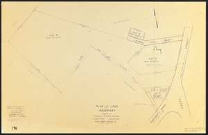 Plan of land in Rockport, property of Stephen F. & Judith W. Davis