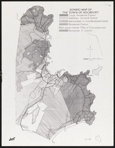 Zoning map of the Town of Rockport