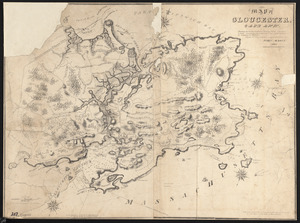 Map of Gloucester, Cape Ann