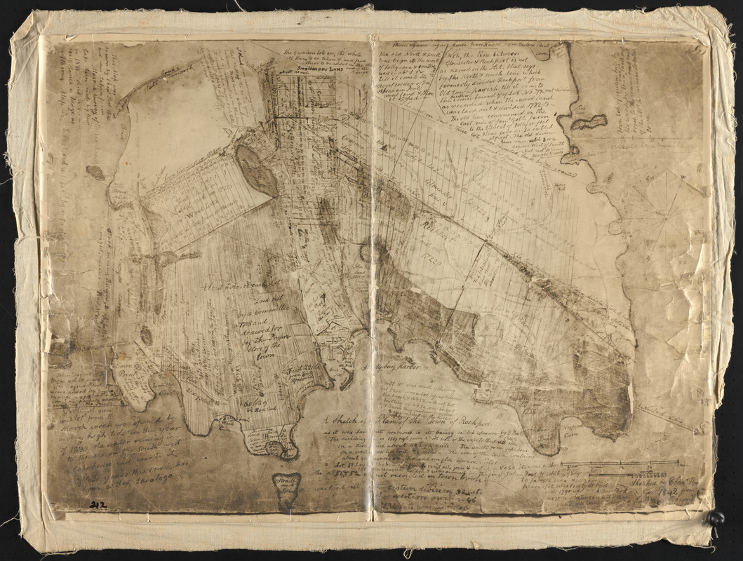 A sketch of a plan of the Town of Rockport as it was laid out previous to its being settled