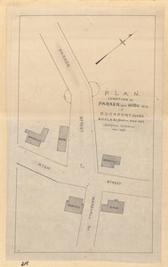 Plan, junction of Parker and High Sts. in Rockport, Mass.
