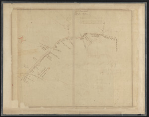 Map of road between Thos. Oake's old house and land of E. Rowe's heirs