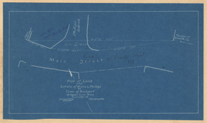 Plan of land from estate of Maria L. Phillips to Town of Rockport at Pigeon Cove, Mass.