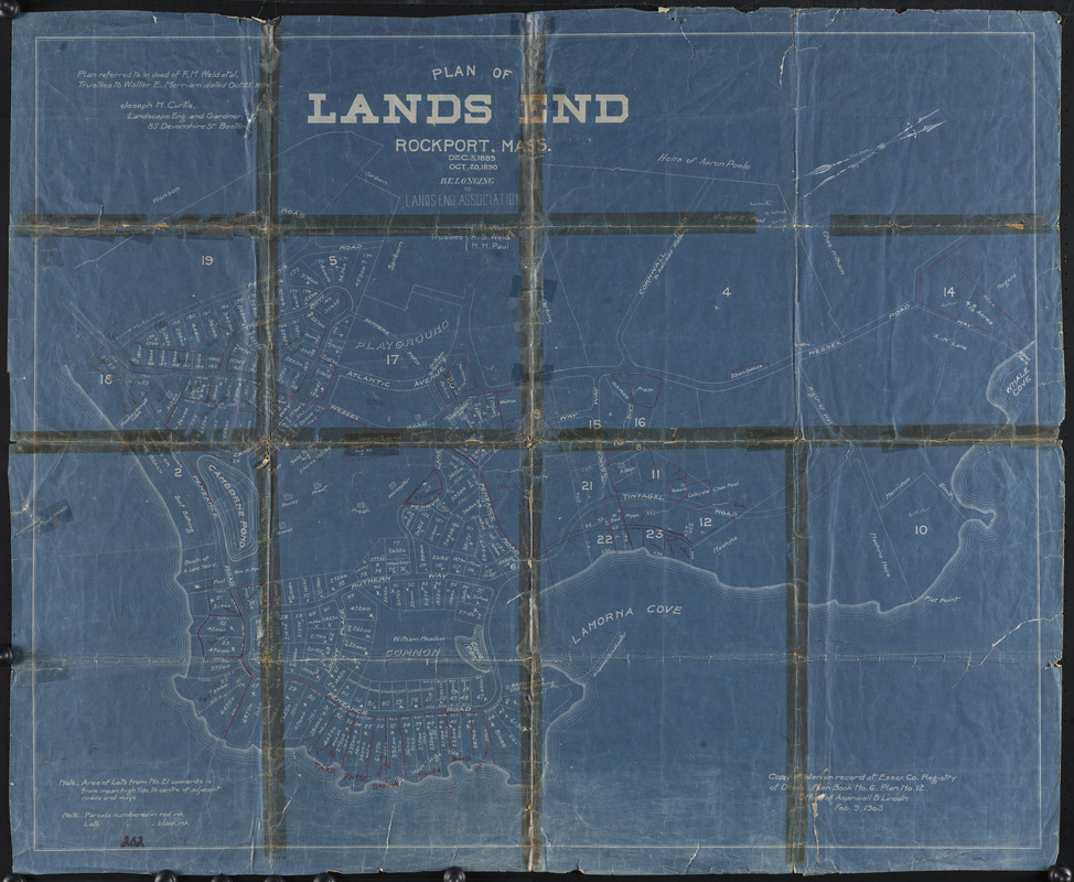 Plan of Lands End, Rockport, Mass.