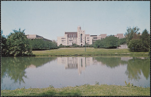 Topped by a meteorological tower and astronomical observatory dome, Davis Hall at Northern University in DeKalb overlooks a man-made lagoon that serves as a scenic setting for everything from weddings to rock concerts