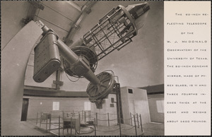 The 82-inch reflecting telescope of the W. J. McDonald Observatory of the University of Texas