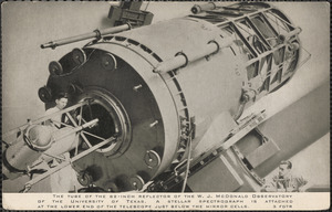 The tube of the 82-inch reflector of the W. J. McDonald Observatory of the University of Texas