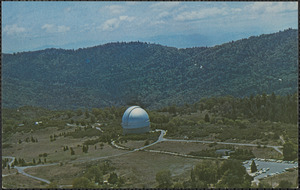 Aerial view of one of the outstanding attractions of Southern California--Palomar Observatory on Palomar Mountain in San Diego County, California