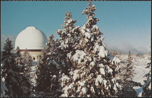 "The dome of Palomar Observatory's 200"" telescope is shown here on the morning after a winter storm"