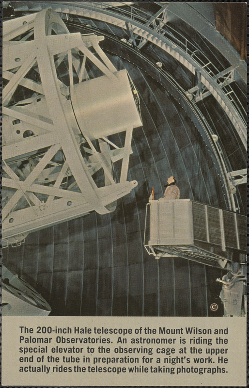 The 200-inch Hale telescope of the Mount Wilson and Palomar Observatories