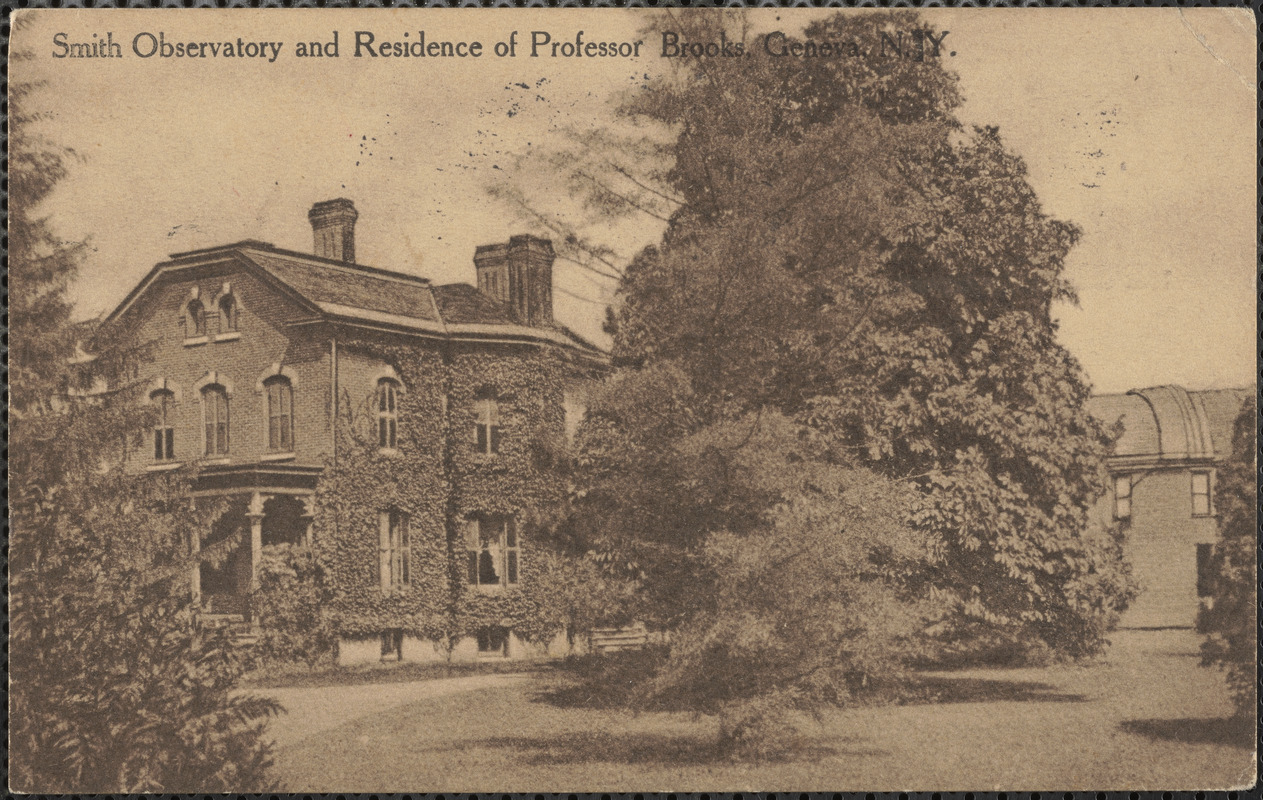 Smith Observatory and residence of Professor Brooks, Geneva, N.Y.