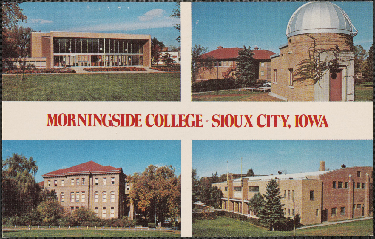 Morningside College Campus Map.Morningside College Sioux City Iowa Digital Commonwealth