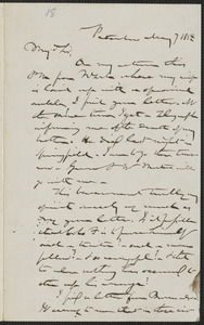 Gerrit Smith autograph letter signed to Franklin Benjamin Sanborn, Peterboro N.Y., 7 May 1858