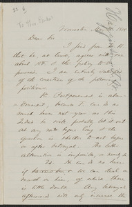 Thomas Wentworth Higginson autograph letter signed to [Theodore Parker, Worcester], 18 May 1858