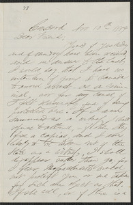 F. B. Sanborn autograph letter signed to [Thomas Wentworth Higginson], Concord, 10 November 1859