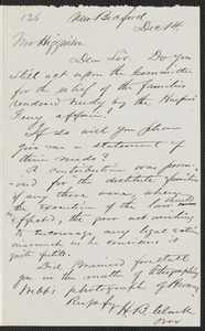 Henry B. Clarke autograph letter signed to [Thomas Wentworth Higginson], New Bedford, 14 December 1859