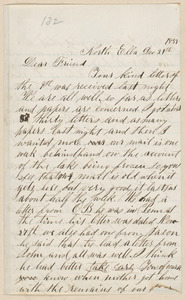 Salmon Brown autograph letter signed to [Thomas Wentworth Higginson], North Elba, [N.Y.], 21 December 1859