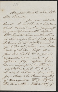 F. B. Sanborn autograph letter signed to Thomas Wentworth Higginson, Hampton Falls [N.H.], 25 December [1859]