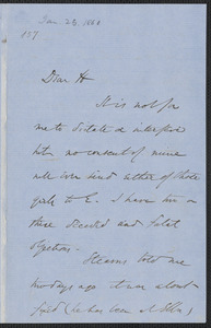 Wendell Phillips autograph letter signed to [Thomas Wentworth Higginson, 23 January 1860]