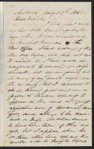 F. B. Sanborn autograph letter signed to [Thomas Wentworth Higginson], Montreal, 29 January 1860