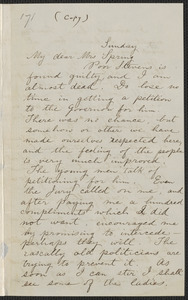 George Sennott letter to Mrs. Rebecca Buffum Spring, [approximately February 1860]