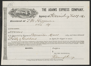 Humphreys autograph document signed for Thomas Wentworth Higginson, Harrisburg, [PA], 29 February 1860