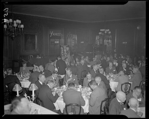 Advertising Club of Boston luncheon held to demonstrate FM transmission at Hotel Statler