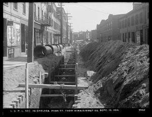 Distribution Department, Low Service Pipe Lines, Section 46, Park Street from Winnisimmet Square, Chelsea, Mass., Sep. 13, 1919