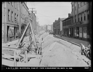 Distribution Department, Low Service Pipe Lines, Section 46, Park Street from Winnisimmet Square, Chelsea, Mass., Sep. 18, 1919