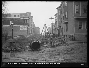 Distribution Department, Low Service Pipe Lines, Section 46, Essex and Shawmut Streets, Chelsea, Mass., Nov. 13, 1919