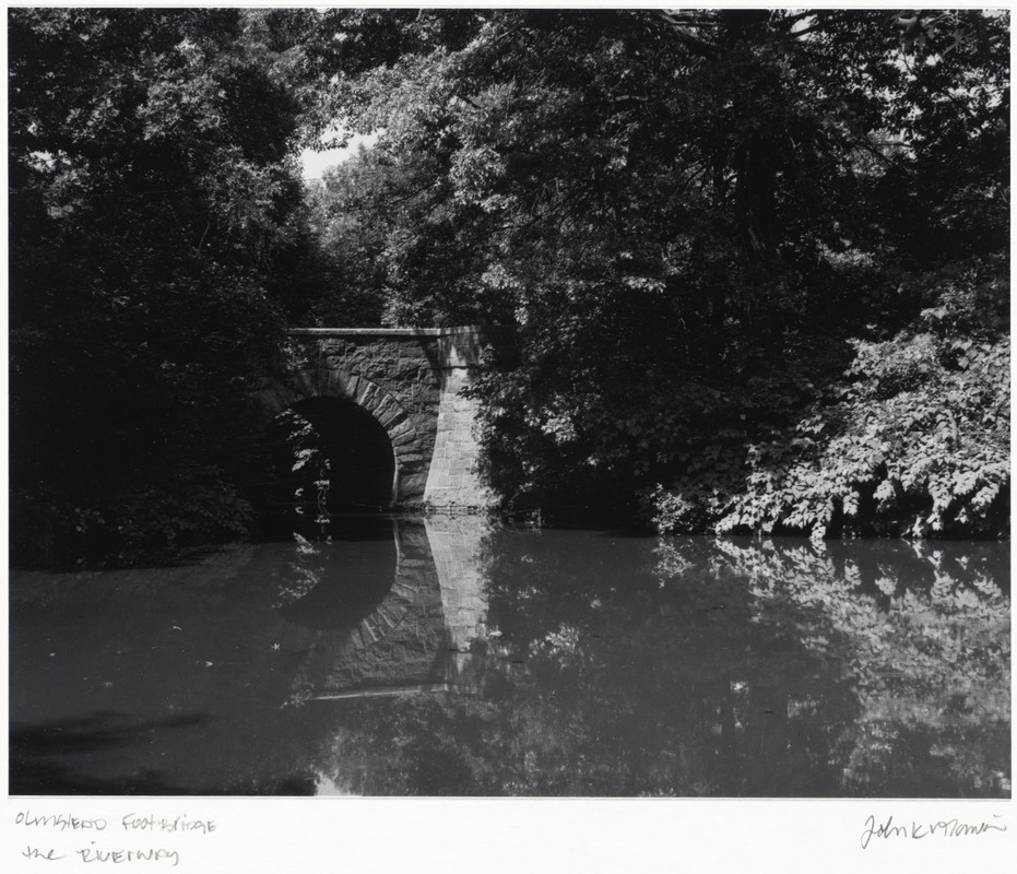 Footbridge on the Riverway by Frederick Law Olmsted