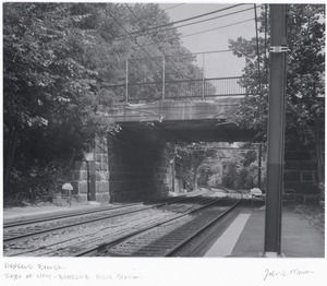 Right of way over Highland Branch (D Line) at Brookline Hills Station
