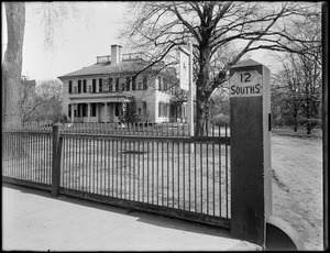 The Loring-Greenough House from the gate, 12 South Street, Jamaica Plain