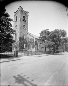 First Congregational Society (Unitarian church), corner of Centre Street and Eliot Street, Jamaica Plain