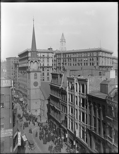Old South Meeting House, view of Washington Street and Milk Street