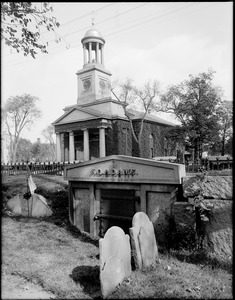 John Adams and John Quincy Adams, tombs and First Parish or Church of the Presidents, Quincy, Mass.