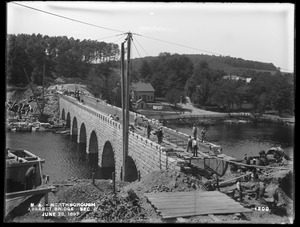 Wachusett Aqueduct, Assabet Bridge, Section 8, from the southeast, Northborough, Mass., Jun. 28, 1897
