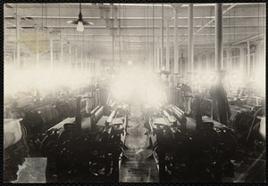 Lower Pacific Mills, Lawrence, MA, weaving dept