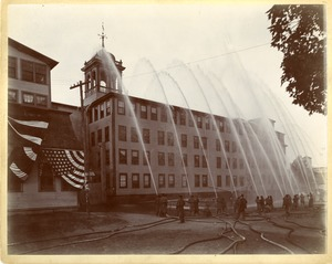 North Brookfield Water Works Hydrant Service Exhibit, Firemen's Muster, September 22, 1894