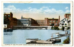 Glimpse of the New Home Sewing Machine Co. Plant From the River, Orange, Mass.
